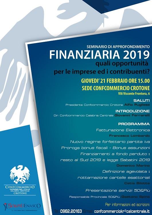 Seminario Finanziaria 2019