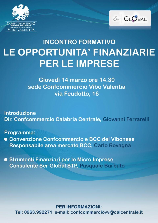 Le opportunità finanziarie per le imprese – A Vibo Valentia un incontro formativo