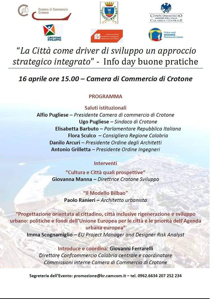 Crotone: la città come driver di sviluppo un approccio strategico integrato